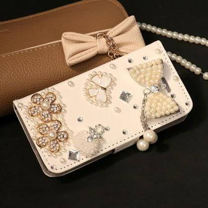Bowknot Bling iPhone 7 Plus leather..