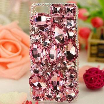 Pink Crystal Bling iPhone 6 case, iPhone 6 Plus case, iPhone 5s case, iPhone 5 case, bling wallet case for samsung galaxy note 4 note 4 edge s6 s6 edge s5 s4 s3