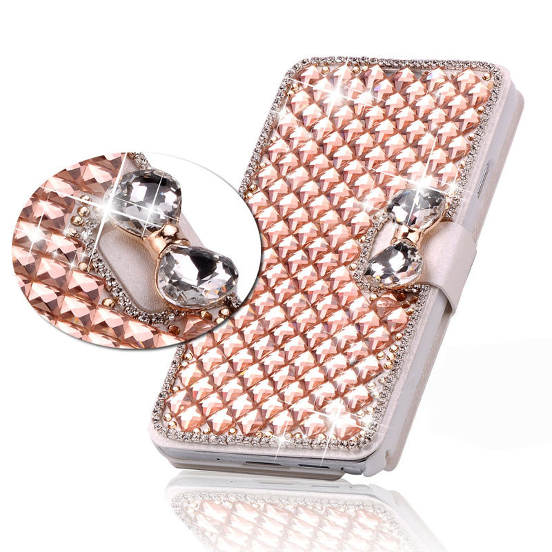 iphone 7 bling flip case