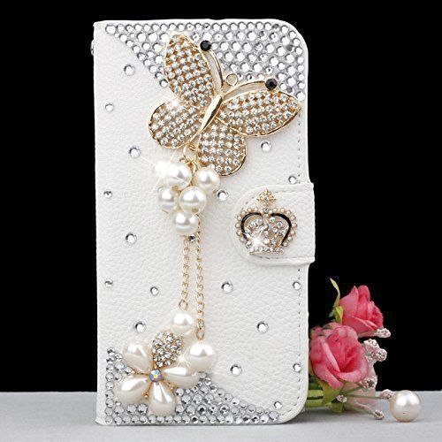 Butterfly bling iPhone 7 Plus leather wallet case, iPhone 6 6s Plus leather case, iPhone 5s SE leather wallet case, iPhone 5 5c leather cover, bling wallet case for samsung galaxy note 5 note 4 s7 edge s6 edge s5