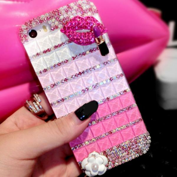 Mouth Bling iPhone 7 Plus, iPhone 6 6s case, iPhone 6 6s Plus case, iPhone 5s SE case, iPhone 5c case, bling wallet case for samsung galaxy note 4 note 5 s7 edge s6 edge s5