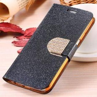 Black Luxury bling phone wallet flip case cover, Bling iPhone 7 Plus leather wallet case, iPhone 6 6s Plus leather case, iPhone 5s SE leather wallet case, iPhone 5 5c leather cover, bling wallet case for samsung galaxy note 5 note 4 s7 edge s6 edge s5